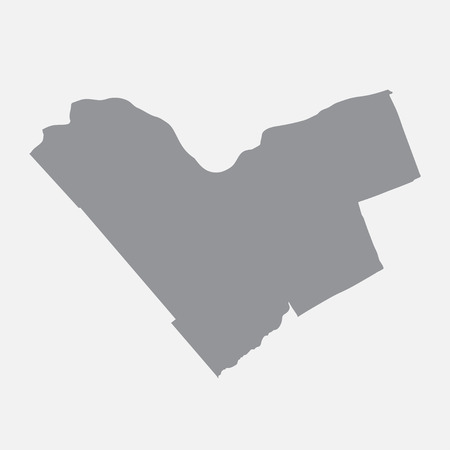 Ottawa city map in gray on a white background