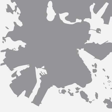 Helsinki city map in gray on a white background Illustration