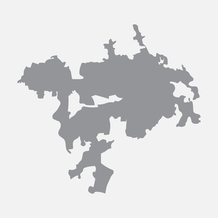 Ankara city map in gray on a white background