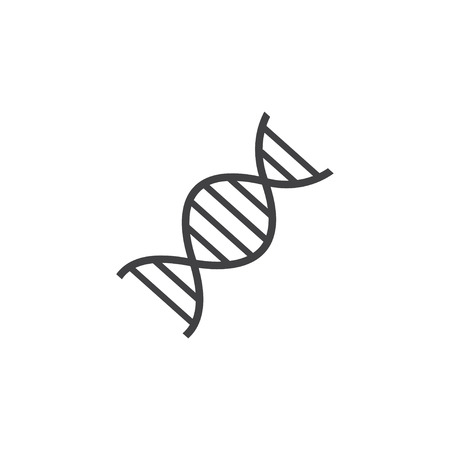 DNA icon in black on a white background. Vector illustration 向量圖像