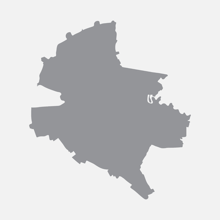 Bucharest city map in gray on a white background Illustration