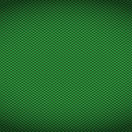 Green carbon texture fiber background. Vector illustration