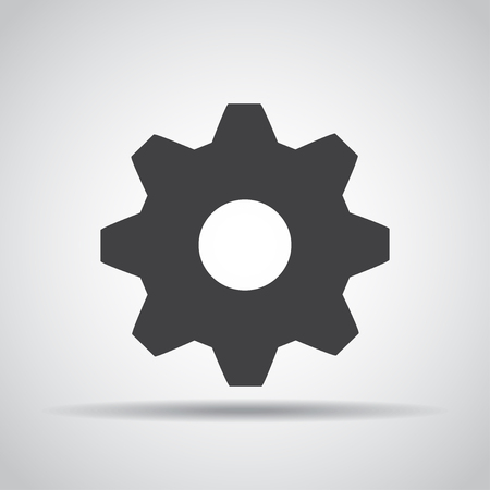communication concept: Gear icon with shadow Illustration