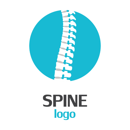 Spine logo template on a white background. Vector Illustrator Eps10