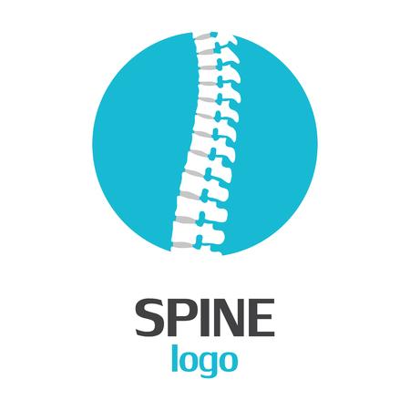 Spine logo template on a white background. Vector Illustrator Eps10