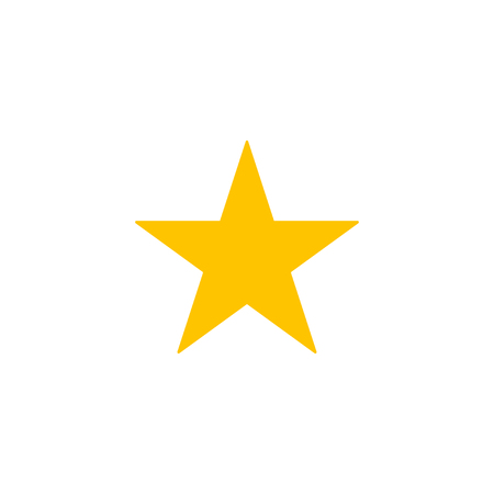 Gold Star icon on a white background. Vector illustration