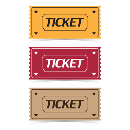 Set of movie ticket icons vector illustration.