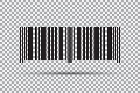 바코드 아이콘 투명 한 배경에 고립입니다. 벡터 일러스트 레이 션 스톡 콘텐츠 - 88856709