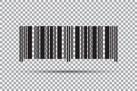Barcode icon isolated on transparent background. Vector illustration Иллюстрация