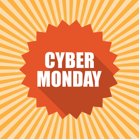 old pc: Cyber Monday label or price tag. Vector illustration
