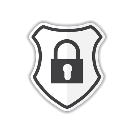 Security icon isolated on white background. Shield security icon. Lock security icon.