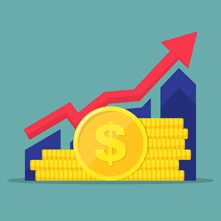 Financial performance, statistic report, boost business productivity, mutual fund, return on investment, finance consolidation, budget planning, income growth concept. Vectores