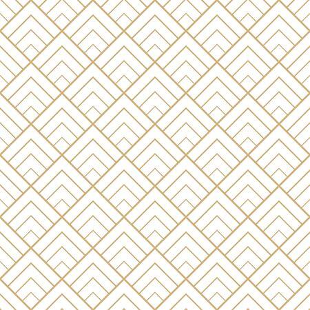 Seamless geometric diamond tile minimal graphic vector pattern. Illustration