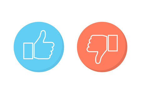 Like and dislike icons set Stock Illustratie
