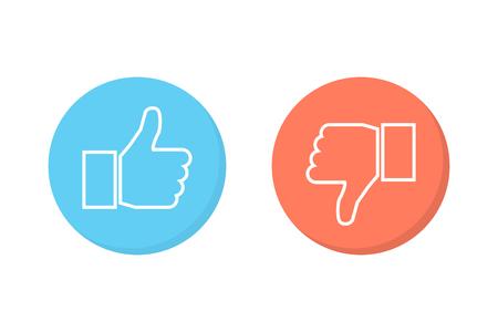 Like and dislike icons set Illustration