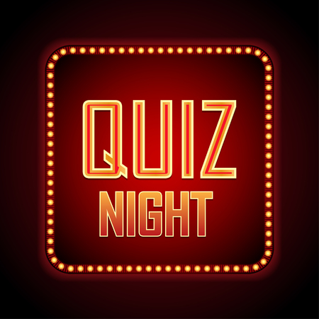 Quiz night announcement poster design web banner background. Vector illustration.