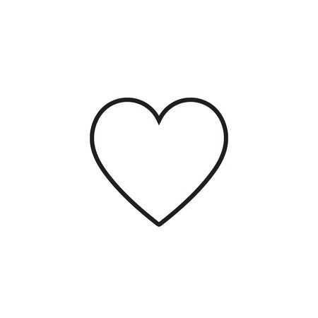 Heart icon vector illustration. Linear symbol with thin outline.
