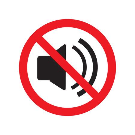 """Das Symbol """"Kein Ton"""". Lautstärkesymbol. Flache Vektor-Illustration."""