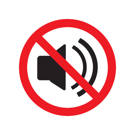 The no sound icon. Volume Off symbol. Flat Vector illustration.