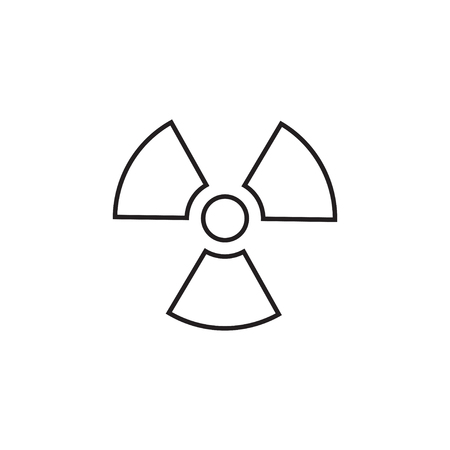 Radiation linear icon in a flat design in black color. Vector illustration eps10.