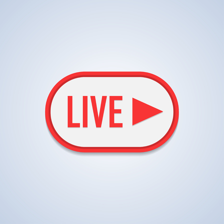 Live Stream sign, emblem, logo Vector Illustration. Reklamní fotografie - 97554060