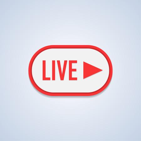 Live Stream sign, emblem, logo Vector Illustration.