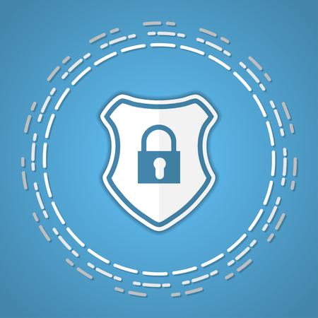 Shield with lock image illustration