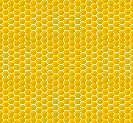 Circular honeycomb background. Seamless pattern. Vector illustration.