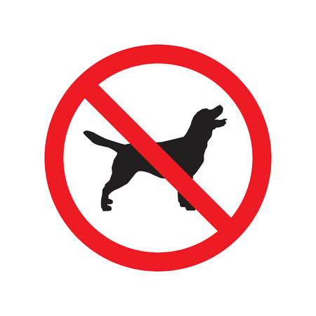 No dogs sign isolated on white background. Vector illustration. Stock Illustratie