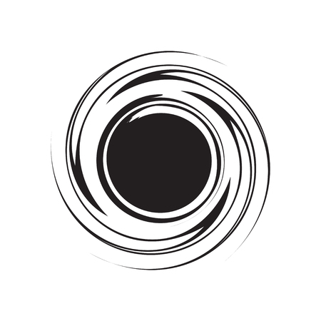 Whirlpool circle grunge element for design. Vector illustration.