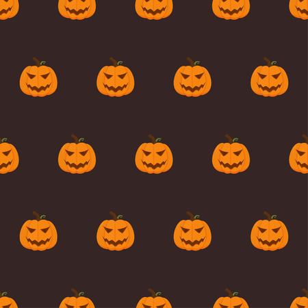 Seamless pattern for Halloween with pumpkins. Vector illustration. Illustration