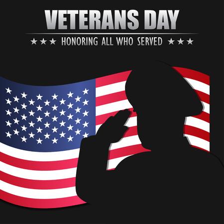 Veterans day. Honoring all who served. November 11.