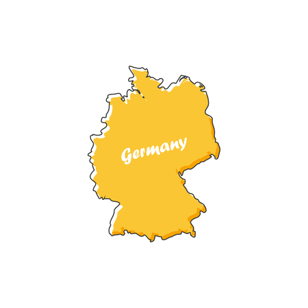 Germany map icon in a flat design. Vector illustration