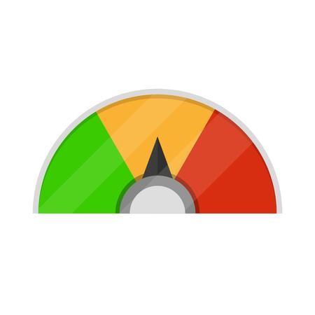 Speedometer icon. Colorful infographic gauge element. Vector illustration Illustration