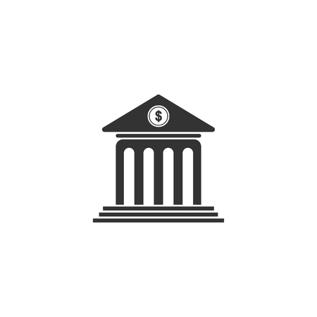 Bank icon in simple design. Vector illustration.
