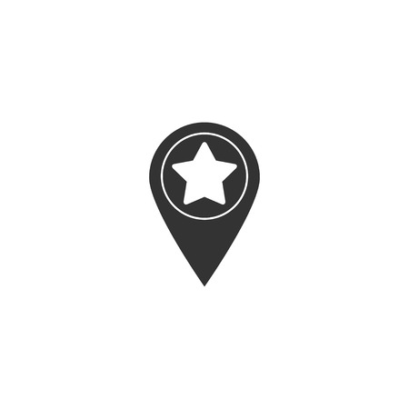 Star pinpoint icon in simple design. Vector illustration. Illustration