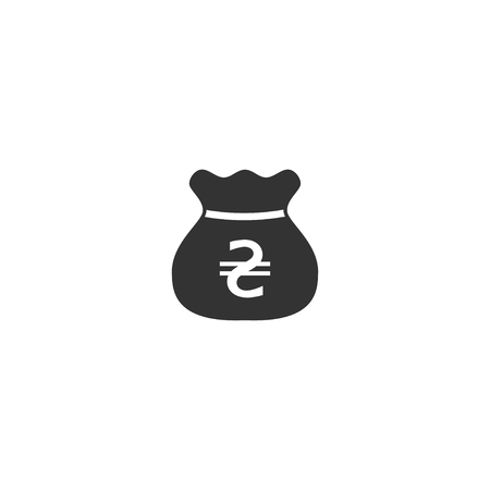 Hryvnia bag icon in simple design. Vector illustration. Illustration
