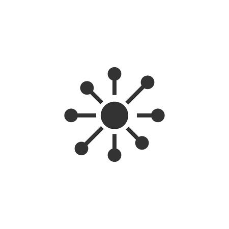 Network icon in simple design. Vector illustration. Ilustração