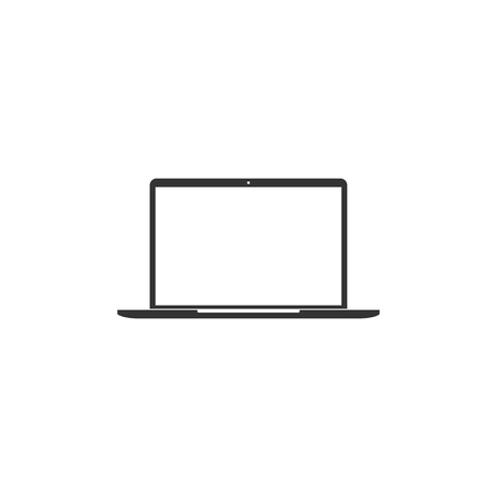Laptop icon in simple design. Vector illustration.