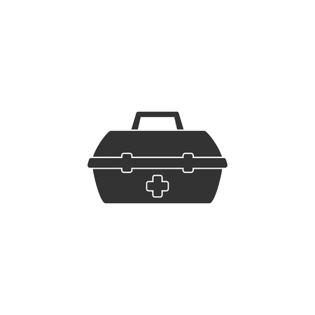 Medical kit icon in simple design. Vector illustration.