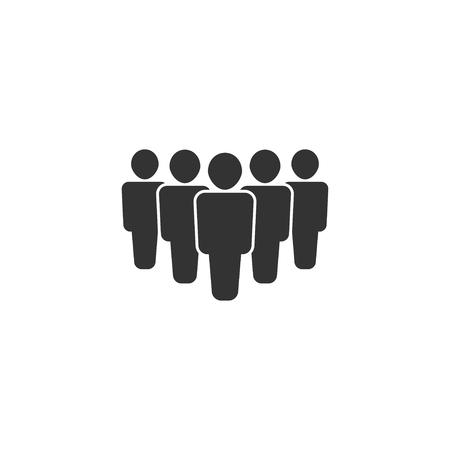 People icon in simple design. Vector illustration. Ilustração