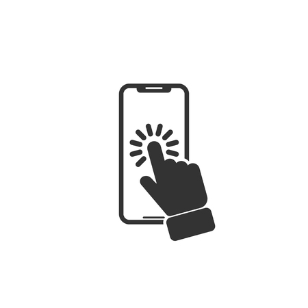 Touch smartphone icon in simple design. Vector illustration. Ilustração