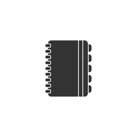 Notebook icon in simple design. Vector illustration.