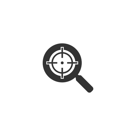 Target icon in simple design. Vector illustration.