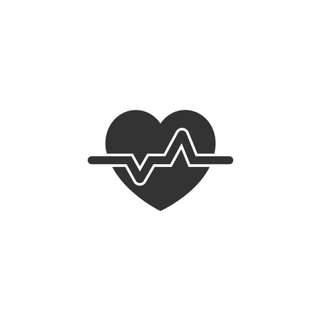 Heartbeat icon in simple design. Vector illustration.