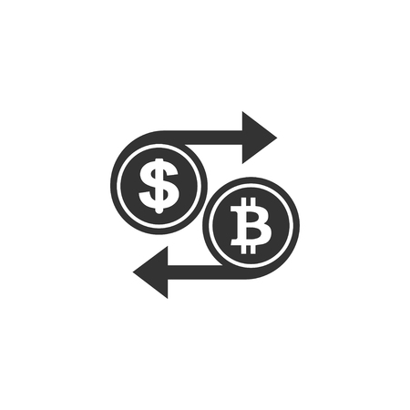 Currency exchange icon in simple design. Vector illustration.