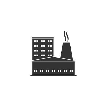 Factory icon in simple design. Vector illustration. Illustration