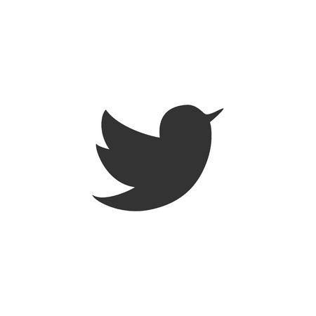 Bird icon in simple design. Vector illustration.