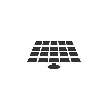 Solar battery icon in simple design. Vector illustration Illustration