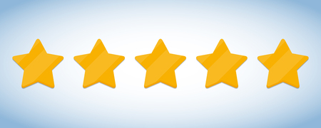 Five stars icons. Customer feedback rating. Vector illustration